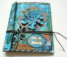 Mini Journal from recycled packaging