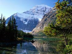 Альберта. Mount Edith Cavell, Jasper National Park, горы, осень, природа 1600х1200