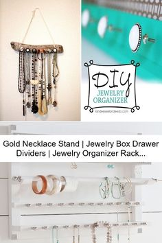 Gold Necklace Stand   Jewelry Box Drawer Dividers   Jewelry Organizer Rack Necklace Hanger, Jewelry Hanger, Jewelry Box, Gold Necklace, Drawer Dividers, All Gems, Girls Jewelry, Jewelry Armoire, Jewelry Organization