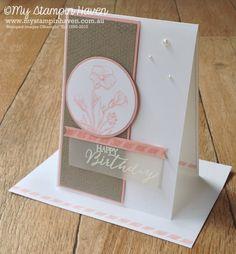 Butterfly Basics birthday card #MyStampinHaven #StampinUp #InkypinksChallenge http://www.mystampinhaven.com.au/june-inkypinks-sketch-challenge/