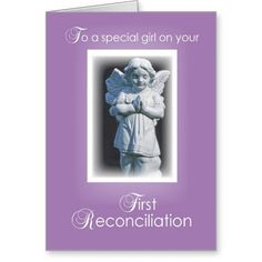 First Reconciliation Card for Catholic Girl