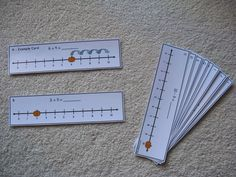 Love this idea for math centers with counting on from a given number for teen numbers