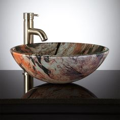 cool bowl of glass sink