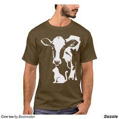 Shop Cow tee created by Beatmaker. Cow Shirt, Farm Boys, Boys Shirts, Tshirt Colors, Printed Shirts, Colorful Shirts, Fitness Models, Tees, Casual