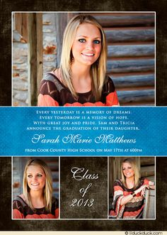 Class Navigation Graduation Announcements in Black simplyput by