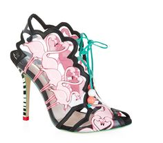 Pin for Later: 24 Pairs of Spring Shoes That Make a Serious Statement  Sophia Webster Flamingo Leather and Vinyl Stiletto Sandals (£505)