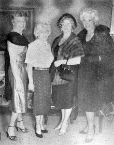 "Members of the Los Angeles ""Hose and Heels Club,"" Carolyn, Nancy, Catheryn and Joan, 1961"