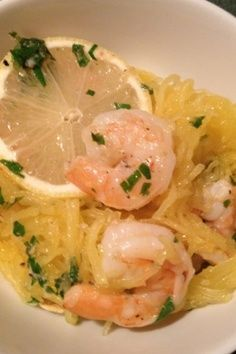 Spagetti Squash Shrimp Scampi! This recipe looks great!