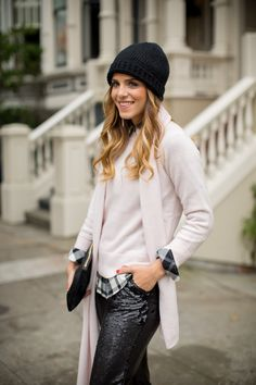 Sequins & pale pink - Gal Meets Glam