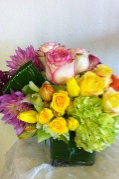 Compact vase arrangement by Robyn