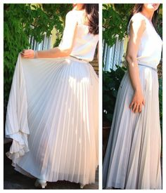 Maxifalda plisado soleil ~ Moda en la Costura