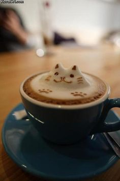 Latte art is the cherry on top of an incredible coffee drink. Here are some of our favorite latte art GIFs from some very talented baristas. I Love Coffee, Coffee Art, Coffee Break, Coffee Cups, Morning Coffee, Coffee Meme, Sweet Coffee, Coffee Barista, Coffee Poster