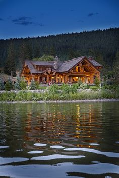 Signal Point Home - Pioneer Log Homes of BC #loghome #customloghome #luxuryloghome
