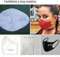 : Cobreboca-barbijo - Alles zu schaffen …: Cobreboca-barbijo Informationen zu Todo para Crear … : Cubreboca -barbijo P - Small Sewing Projects, Sewing Hacks, Sewing Tutorials, Easy Face Masks, Diy Face Mask, Pocket Pattern, Diy Mask, Fashion Face Mask, Sewing Techniques