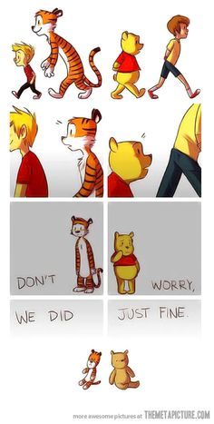 Calvin and Hobbes   Winnie the Pooh and Christopher Robin