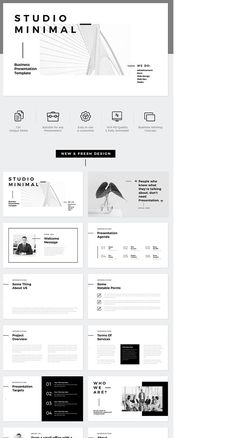 Check out this project: Studio Minimal Presentation Keynote Template - Keynote - Ideas of K Keynote Design, Ppt Design, Icon Design, Powerpoint Design Templates, Design Poster, Design Studio, Slide Design, Design Room, Keynote Template