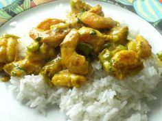 Quick prawn curry: A very quick way to prepare a creamy prawn curry with lime and spring onion.