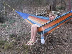 Mayan Hammock - Double – Black Squirrel Outdoors great place for the kids to relax when camping Hammock Cover, Rope Hammock, Hammock Bed, Hanging Hammock, Double Hammock, Hammocks, Mayan Hammock, Black Squirrel, Outdoor Furniture