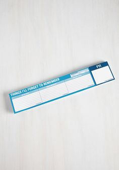 Things I'll Forget to Remember Keyboard Notepad - Multi, Quirky, Good, Work, Dorm Decor