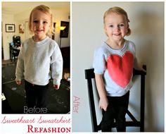 Freshly Completed: Sweetheart Sweatshirt Refashion