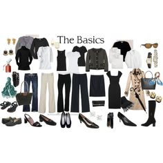 the basics, created by kate-about-town.polyvore.com
