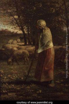 The Little Shepherdess - Jean-Francois Millet