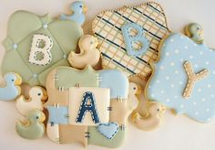 Beautiful & sweet baby shower cookies by Sweet Ambs.