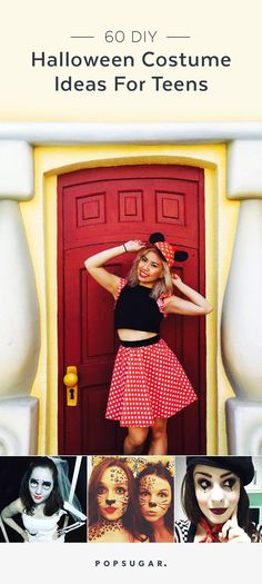 Last Minute DIY Halloween Costumes for Teens Minnie Mouse - super easy halloween costume ideas