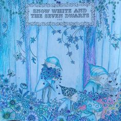 Instagram media tomoko_catlover - #おとぎ話のぬり絵ブック #大人の塗り絵 #大人のぬり絵 #コロリアージュ #白雪姫 #塗り絵 #color #coloring #coloringbook #coloredpencil #coloriage #blue #snowwhite #art