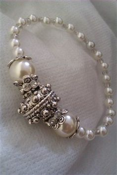 This user submitted pearl and silver bracelet is gorgeous!