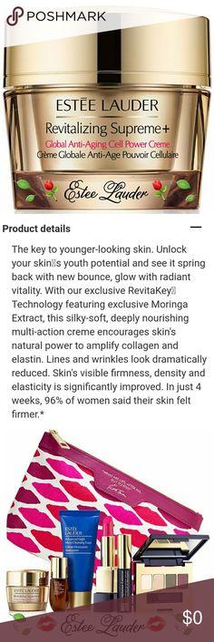 ⚘Estee Lauder⚘Bogo Revitalizing Anti-Age Creme ⚘EL⚘Bogo Buy Revitalizing Supreme + Global Anti-Aging Cell Power Creme.          ❣Get 7-Pc Travel Gift Free❣                    ( A $150.00 Value)               Price is Firm~No Trades Estee Lauder Makeup Luminizer