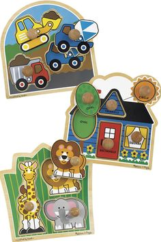Colorful jumbo animal puzzles with extra-large knobs that are easy for little hands to grip. Stem Curriculum, Colorful Pictures, Puzzles, Infant, Classroom, Hands, Animal, Easy, Colorized Photos