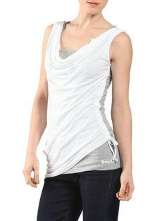T-shirt Bench clothing femme modèle PlayTimed blanc gris