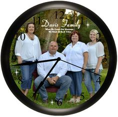 Personalized Photo Wall Clock With Your Picture Custom Unique Keepsake Gift  Idea Made Exclusively By Simply Idea