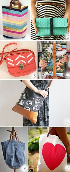 Seven pretty DIY bags by Wilma. I really really want to make myself a bag..