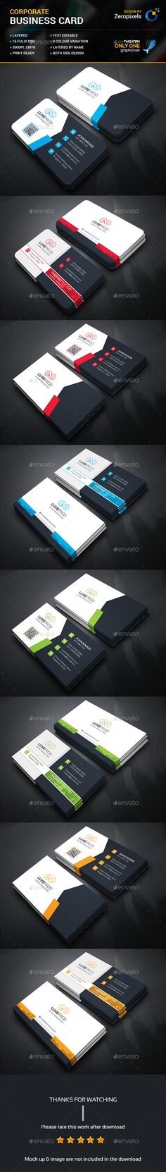 Corporate Business Card Bundle - Business Cards Print Templates Download here : https://graphicriver.net/item/corporate-business-card-bundle/17664863?s_rank=32&ref=Al-fatih