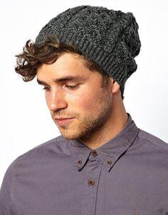 Image 1 ofASOS Oversized Beanie in 100% British Wool