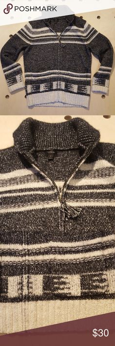 Cotton - merino wool shawl collar zip-up cardigan Lightly worn, Holiday '15 collection. 72% cotton, 28% wool. J. Crew Sweaters Zip Up