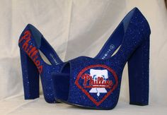 Philadelphia Phillies Baseball Themed shoes by Viabloomfield - LOVE THESE!!!