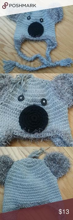 NWOT Crochet Elephant baby beanie Adorable crochet beanie in light gray and black in an elephant design.  Very cute item  This item is brand new and never used Accessories Hats