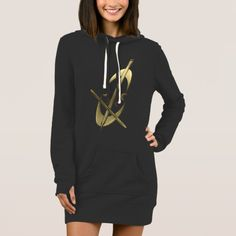 Chic Gold Cello Music Musician Hoodie Dresspretty dresses for women over 40 Pretty Dresses For Women, Cute Dresses, Vintage Dresses, Women's Dresses, Business Women, Business Casual, Hoodie Dress, Gold Style, Diy Dress