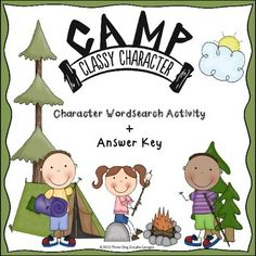 "I hope your students enjoy this ""Camp Classy Character"" wordsearch activity. This wordsearch is centered around the six traits of character: kindness (or caring), respect, responsibility, trustworthiness, fairness, and citizenship. FREE"