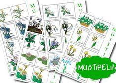 Kevät - kukka opas, muistipeliä, kevät lauluja Nature Journal, Diy For Kids, Goodies, Projects To Try, Workshop, Teaching, Games, Holiday Decor, Spring