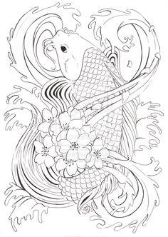 Koi Tattoo design by vaoni.deviantart.com on @deviantART