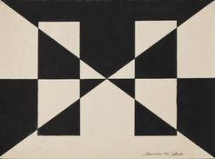 Maurício Nogueira Lima, Estudo, 1951 (nanquim s papel, 23 x 30cm)