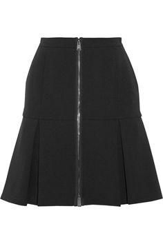 Fendi Drop-waist pleated stretch-wool skirt NET-A-PORTER.COM