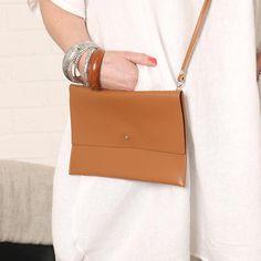 Italian Leather Cross Body Bag in Tan Italian Leather, Evening Bags, Leather Crossbody Bag, Cross Body, Messenger Bag, Shoulder Strap, Purses, My Style, Fashion