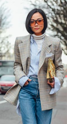 Street Style, PFW, Paris Fashion Week, Denim. Yoyo Kula. Tommy Ton. Celine Sunglasses.