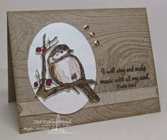 Stamps - Our Daily Bread Designs You Will Find Refuge, Wood Background, ODBD Custom Chickadee Die