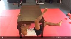 Improve Your Jiu-Jitsu with this Table Workout Using BJJ Moves